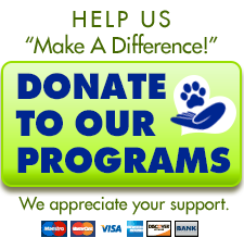 Learn About Our Programs! Donate and help us Make a Difference!